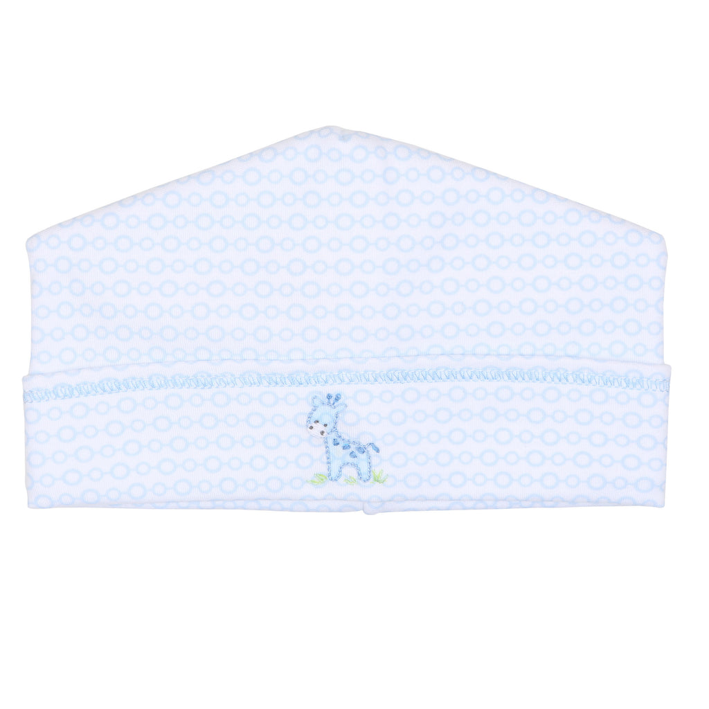 Blue Darling Giraffes Emboidered Hat