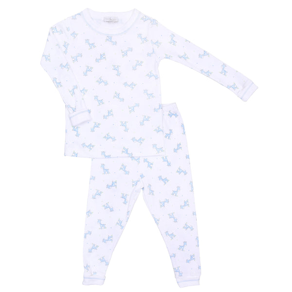 Blue Darling Giraffes Long Pajamas