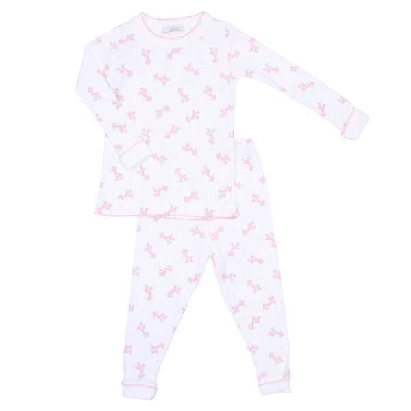 Pink Darling Giraffes Long Pajamas