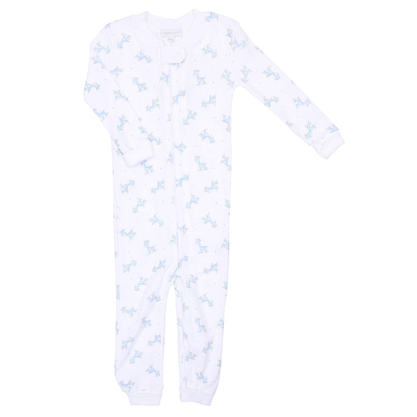 Blue Darling Giraffes Zipped Pajamas