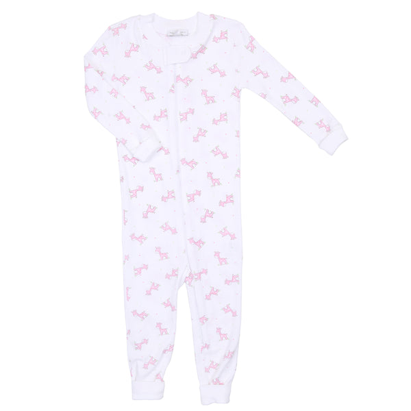Pink Darling Giraffes Zipped Pajamas