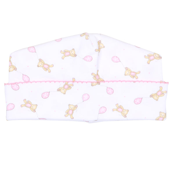Pink Beary Sweet Print Hat
