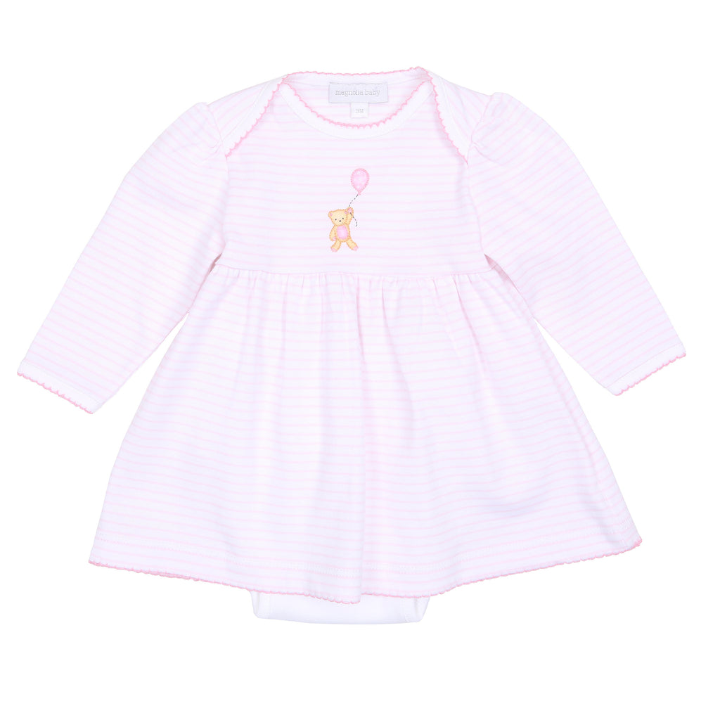 Pink Beary Sweet Embroidered Dress