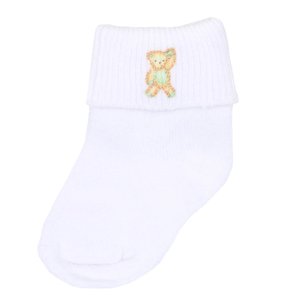 Unisex Beary Sweet Embroidered Socks