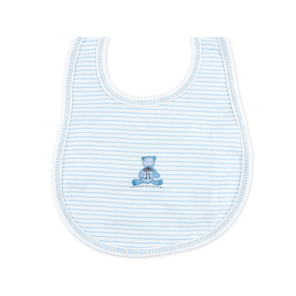 Magnolia Baby Baby's Teddy Blue Embroidered Bib