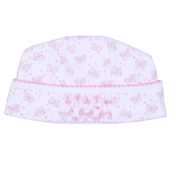 Pink Hannah's Love Smocked Hat