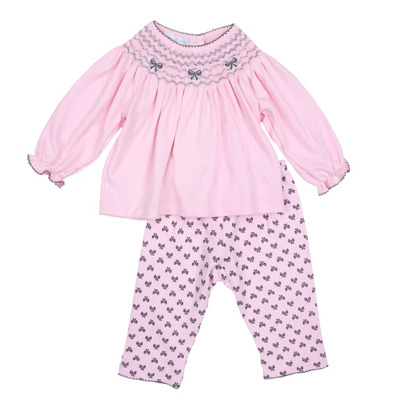 Black Beautiful Bows Bishop Pant Set