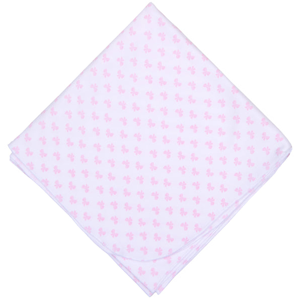 Pink Beautiful Bows Swaddle Blanket