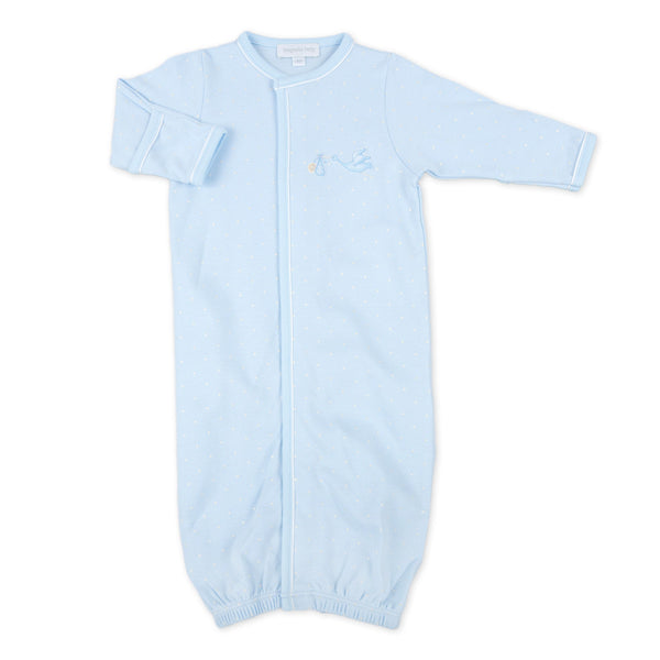Magnolia Baby Essentials Blue Worth the Wait Embroidered Converter Gown