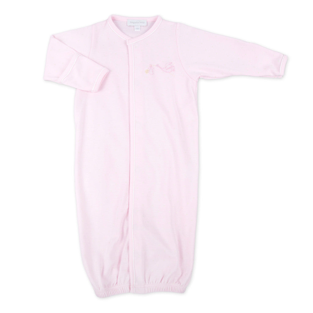 Magnolia Baby Essentials Pink Wort the Wait Embroidered Converter Gown