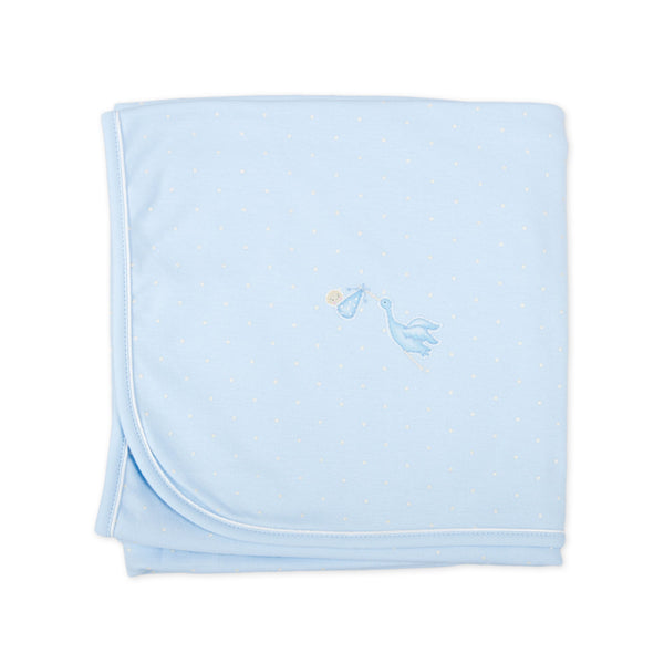 Magnolia Baby Essentials Blue Worth the Wait Blanket