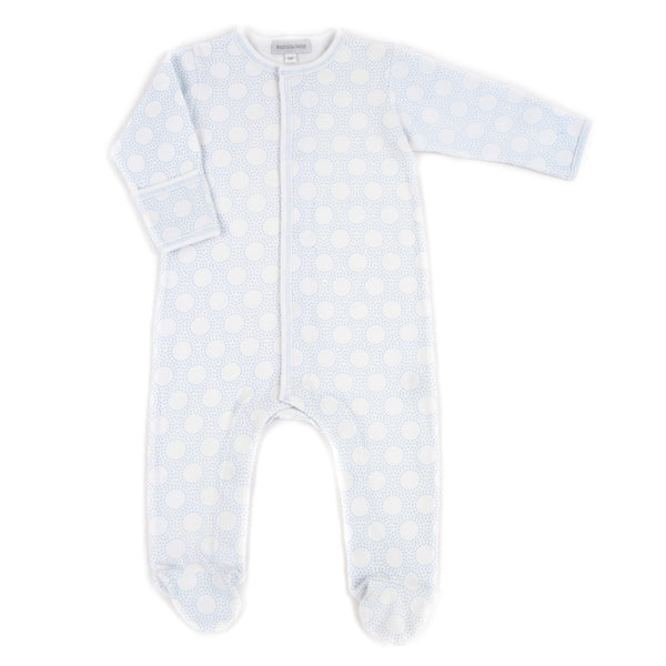 Magnolia Baby Essentials Blue Circles Footie