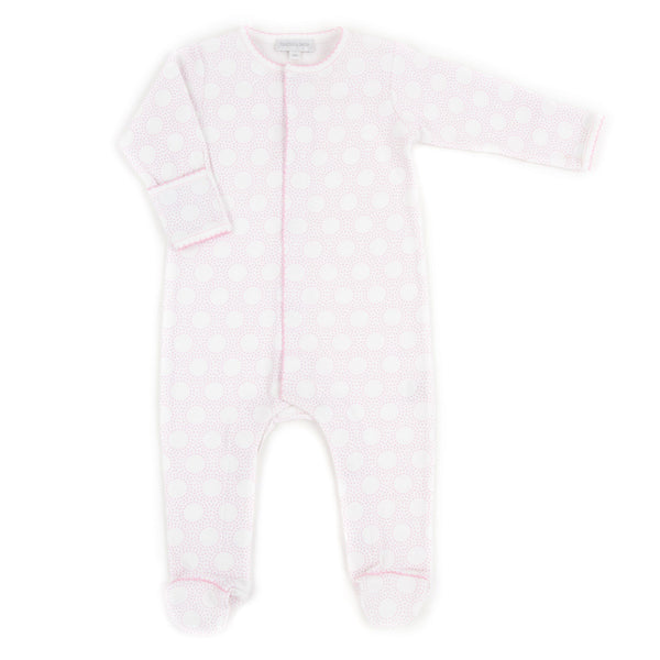 Magnolia Baby Essentials Pink Circles Footie Sleepsuit