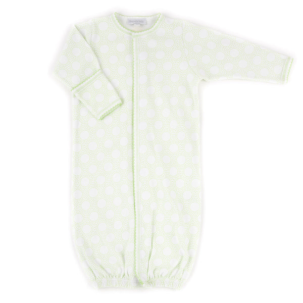 Magnolia Baby Essentials Unisex Green Circles Converter Gown