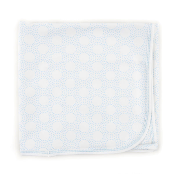 Magnolia Baby Essentials Blue Circles Blanket