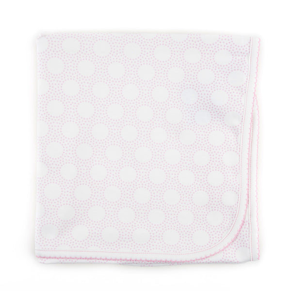 Magnolia Baby Essentials Pink Circles Receiving Blanket