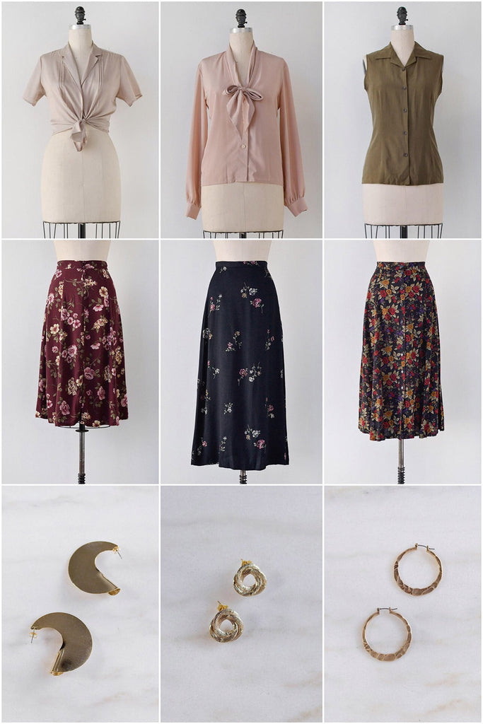 Mix-N-Match Floral Skirt & Blouses