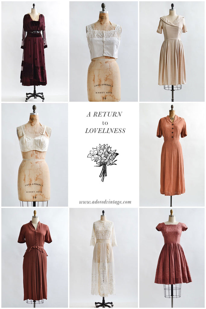 Vintage Shop Update | A Return to Loveliness