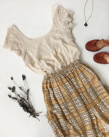 Vintage Outfit Ideas: Crochet in the Country