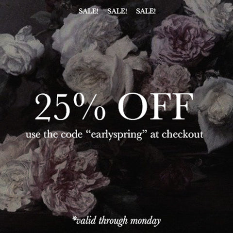 25% OFF ENTIRE SHOP