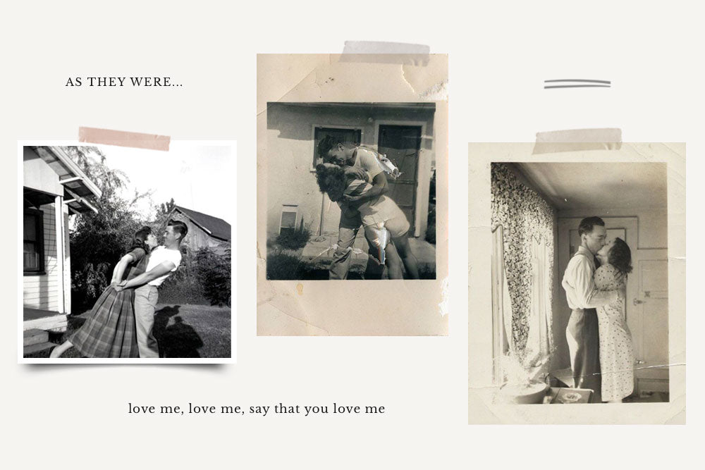 L'Amour: Found Vintage Photos & Your First Kiss