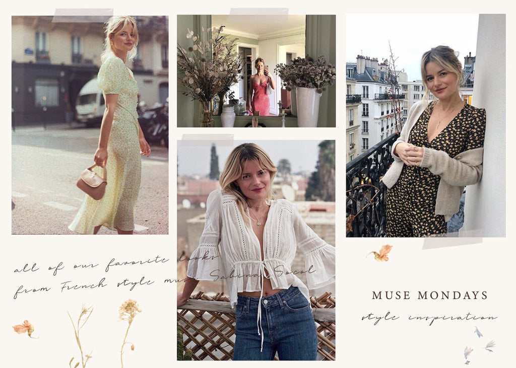 Feminine and TimelessOutfit Inspiration from French Style Muse Sabina Socol