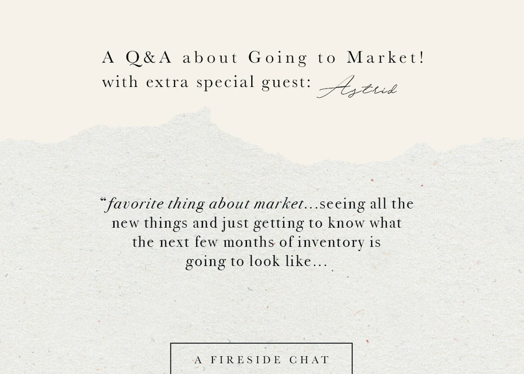 Q&A: Going to Market!