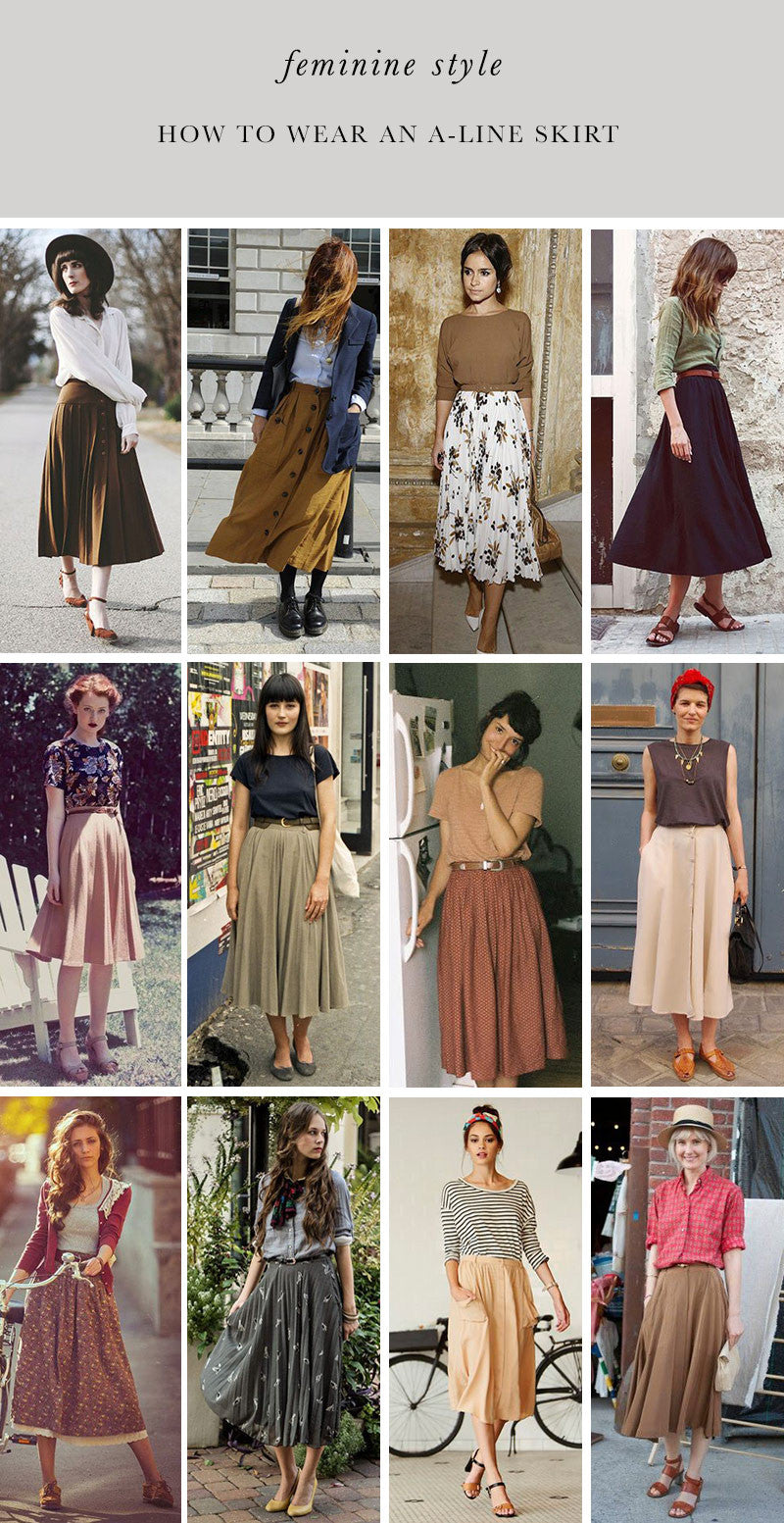 How to Wear an A-Line Skirt – Adored Vintage