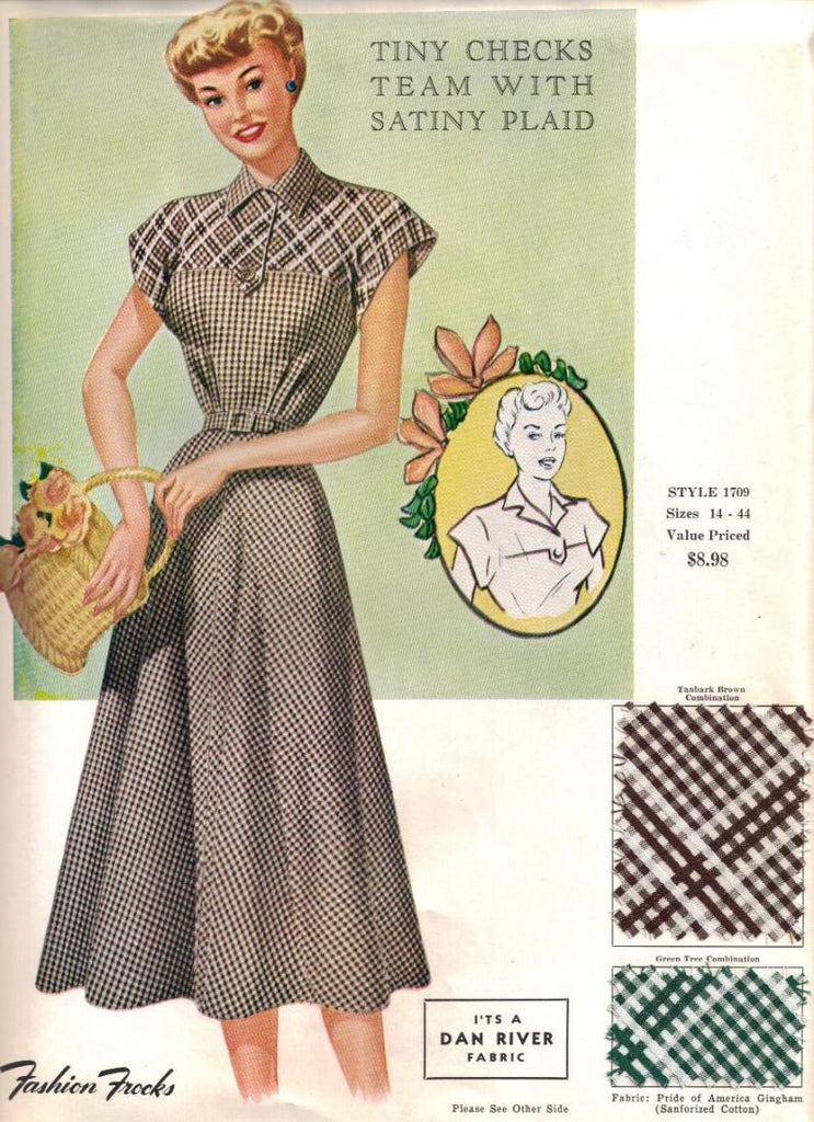 Vintage Fabric Samples from the 1940s