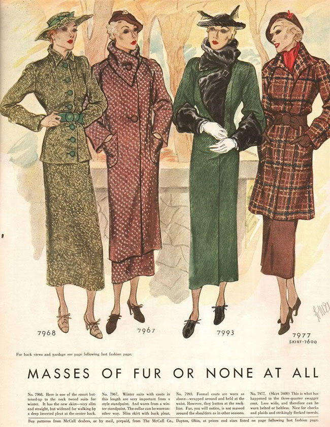 Dressing for Autumn in 1934