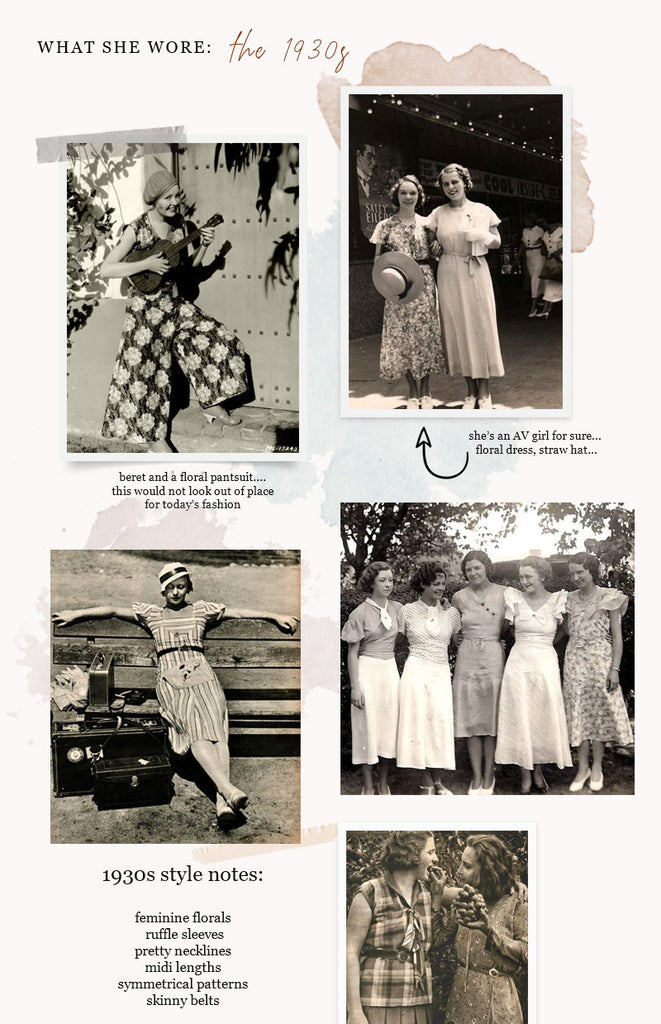 Vintage Fashion and Style Inspiration from the 1930s