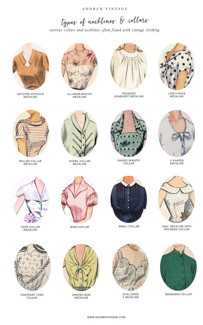 Guide To Vintage Collars Necklines Adored Vintage