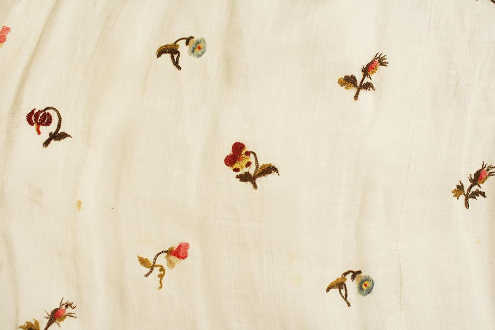 Floral Embroidery on Regency Gown