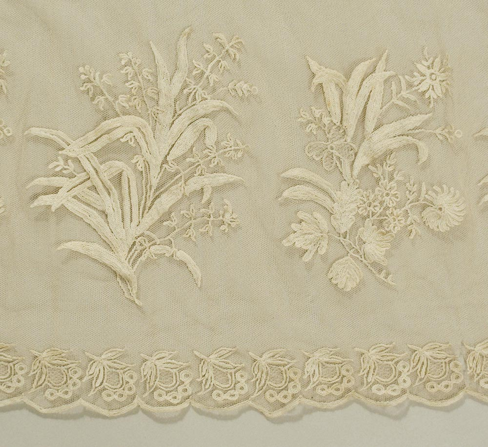 Regency Dress, Lace and Embroidery Detail