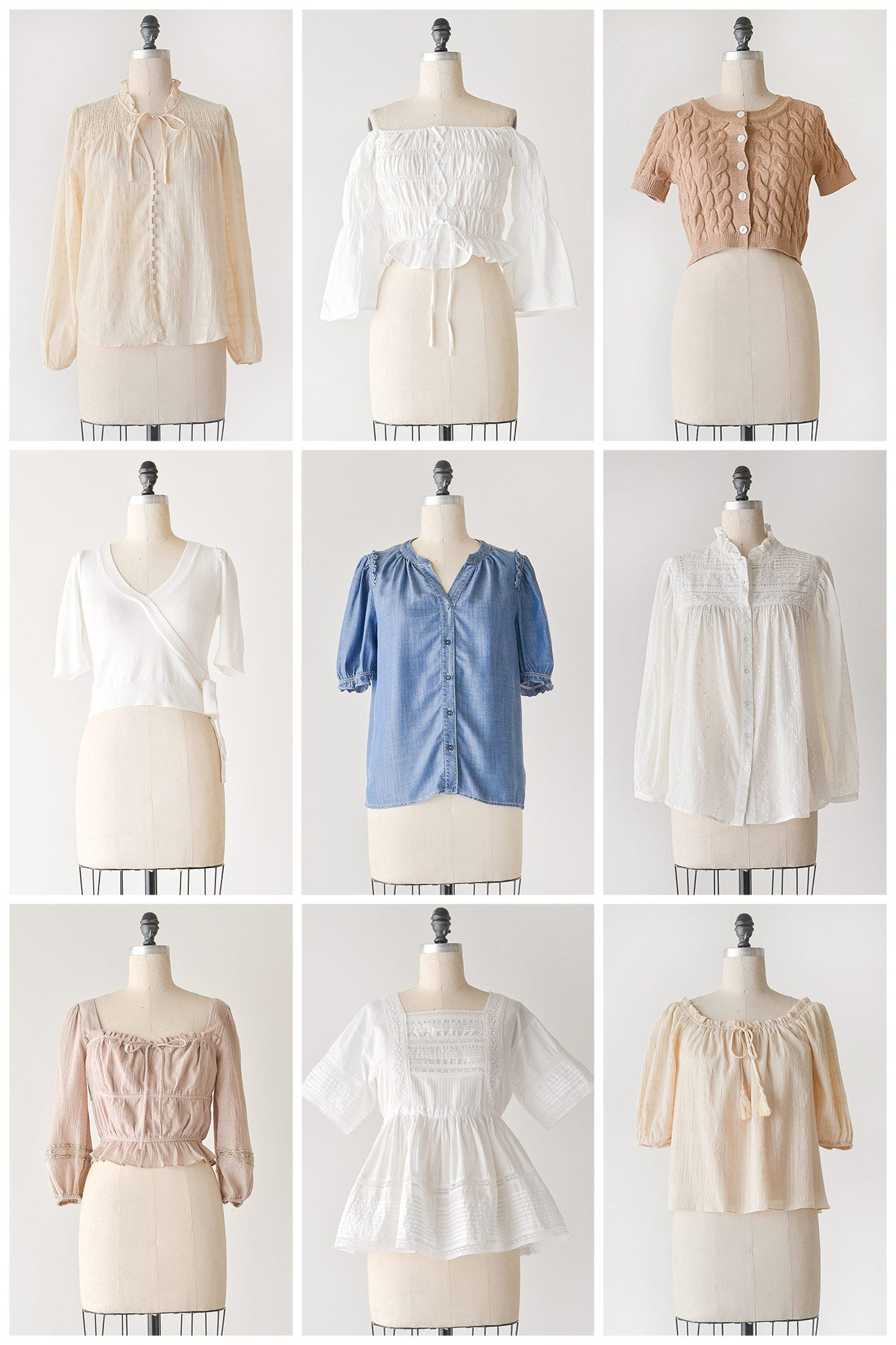 feminine vintage inspired tops from Adored Vintage