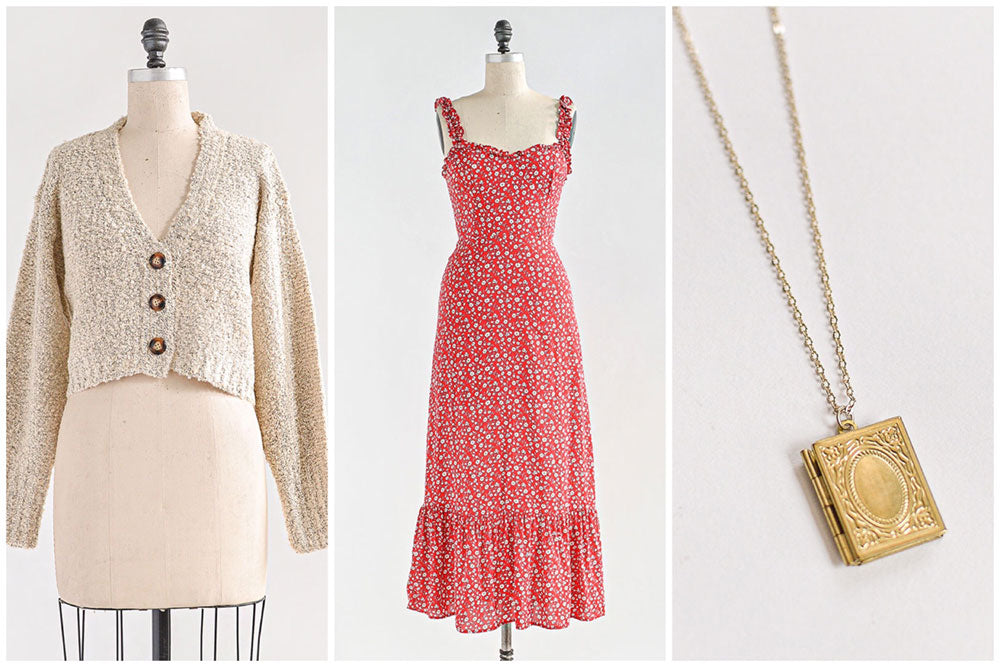 Gentle Prairie / Soft Floral Prints, Knits, and Feminine Jewelry