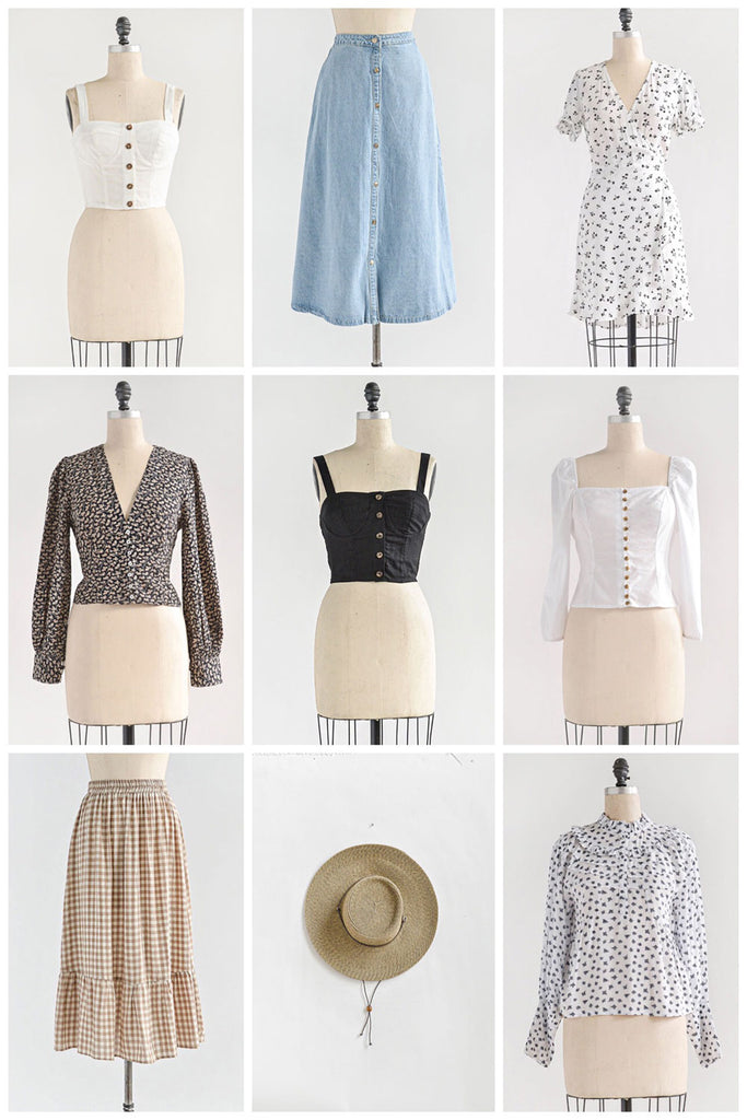Gentle Prairie / Soft Florals, Blues, Knits, and Puff Sleeves / Feminine Vintage Inspired Clothing