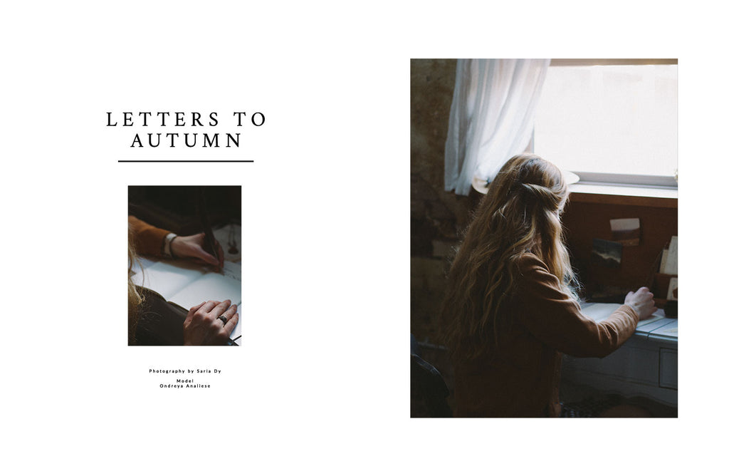 Adored Vintage Lookbook / Letters for Autumn