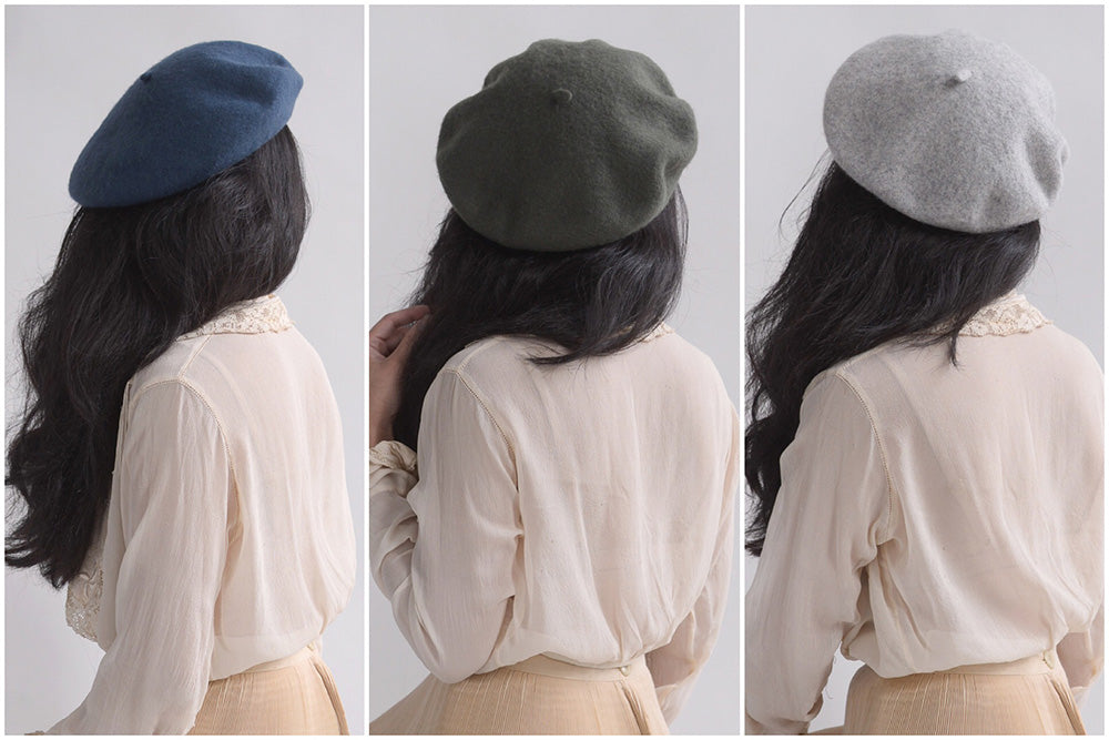 French Style Vintage Inspired Wool Berets