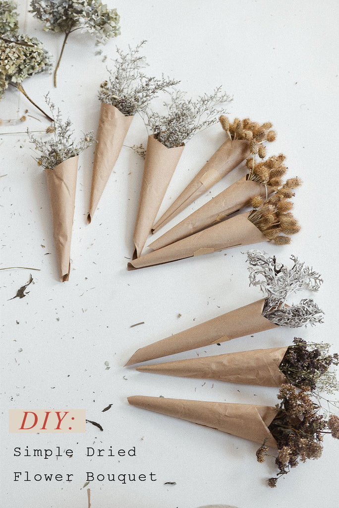 DIY: How to make a simple dried flower bouquet