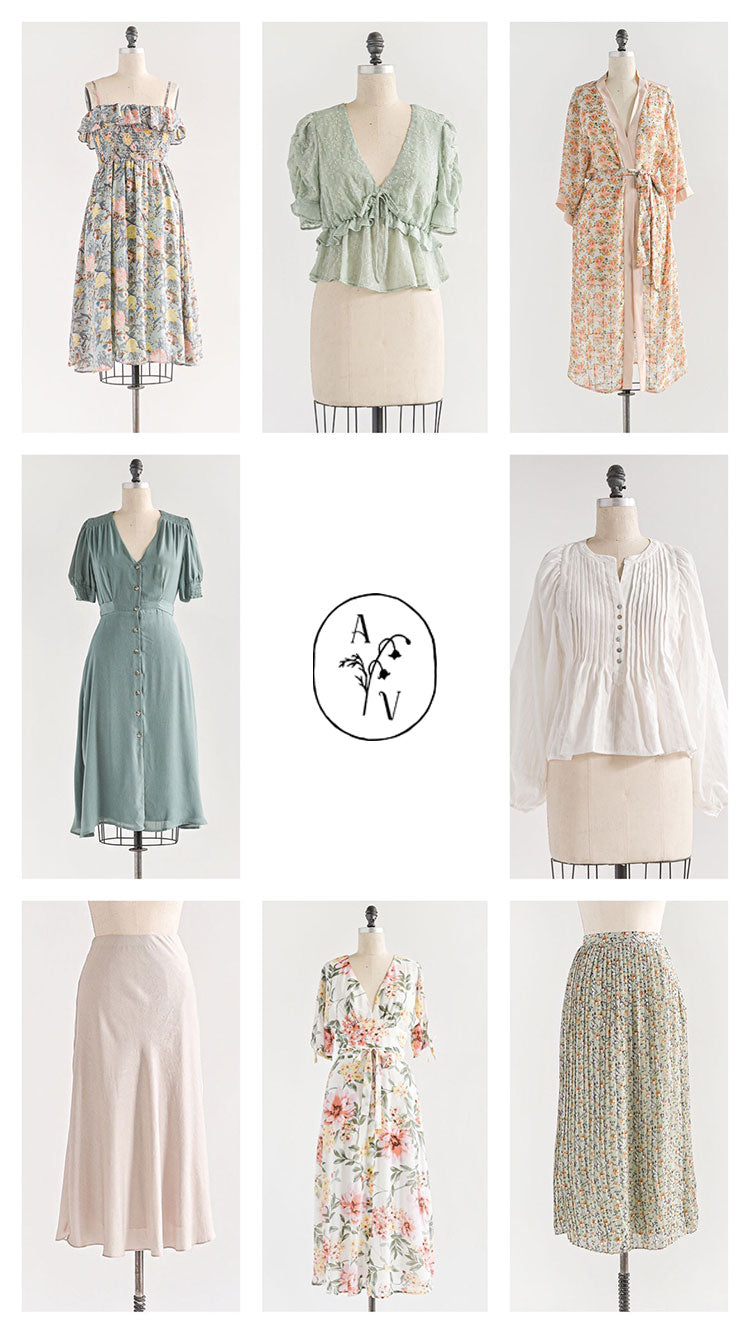 Adored Vintage Soft Rose, Sage, Mint Hues - Outfit Inspiration