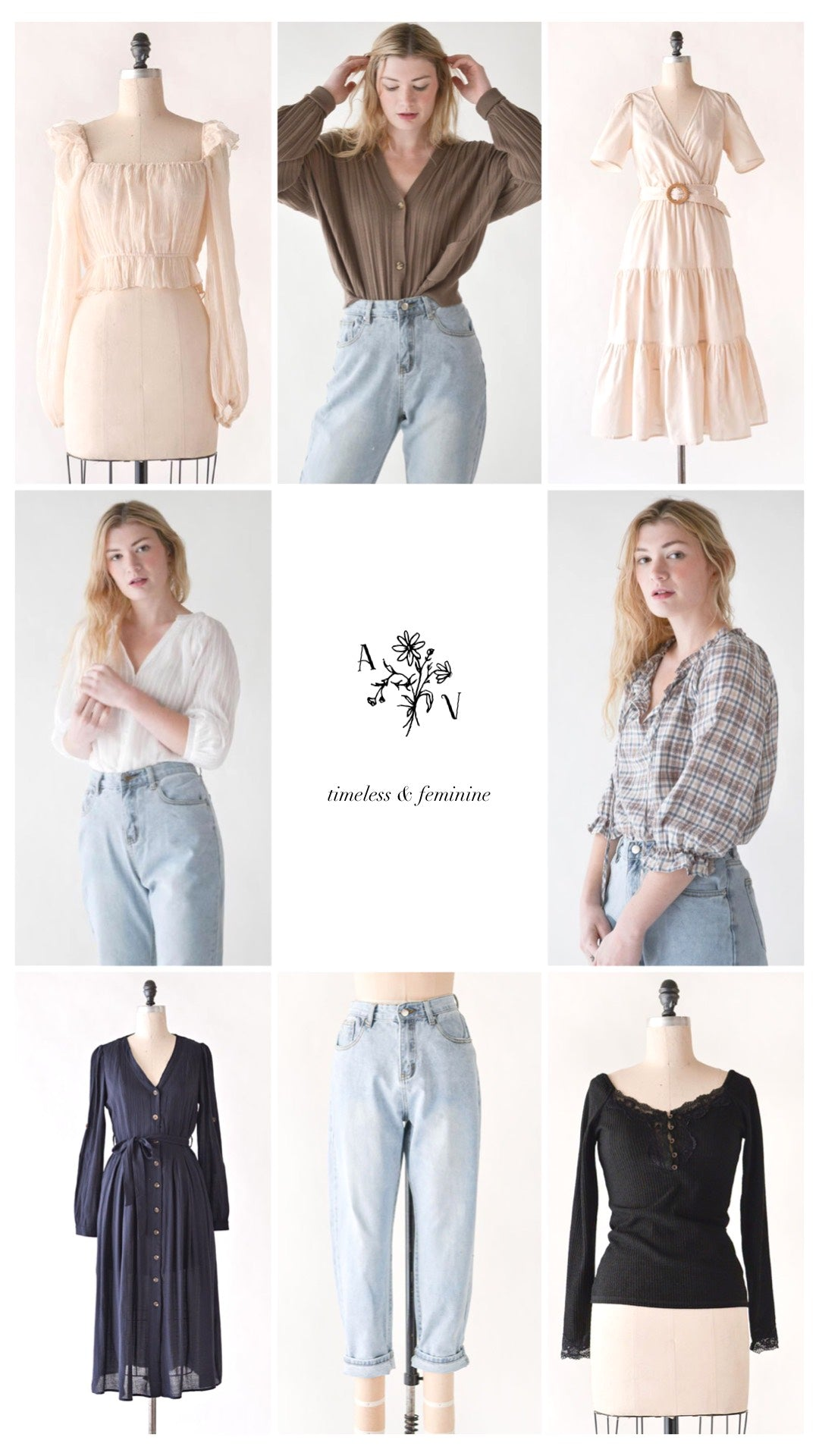 Feminine, Timeless, and Effortless Women's Clothing Boutique