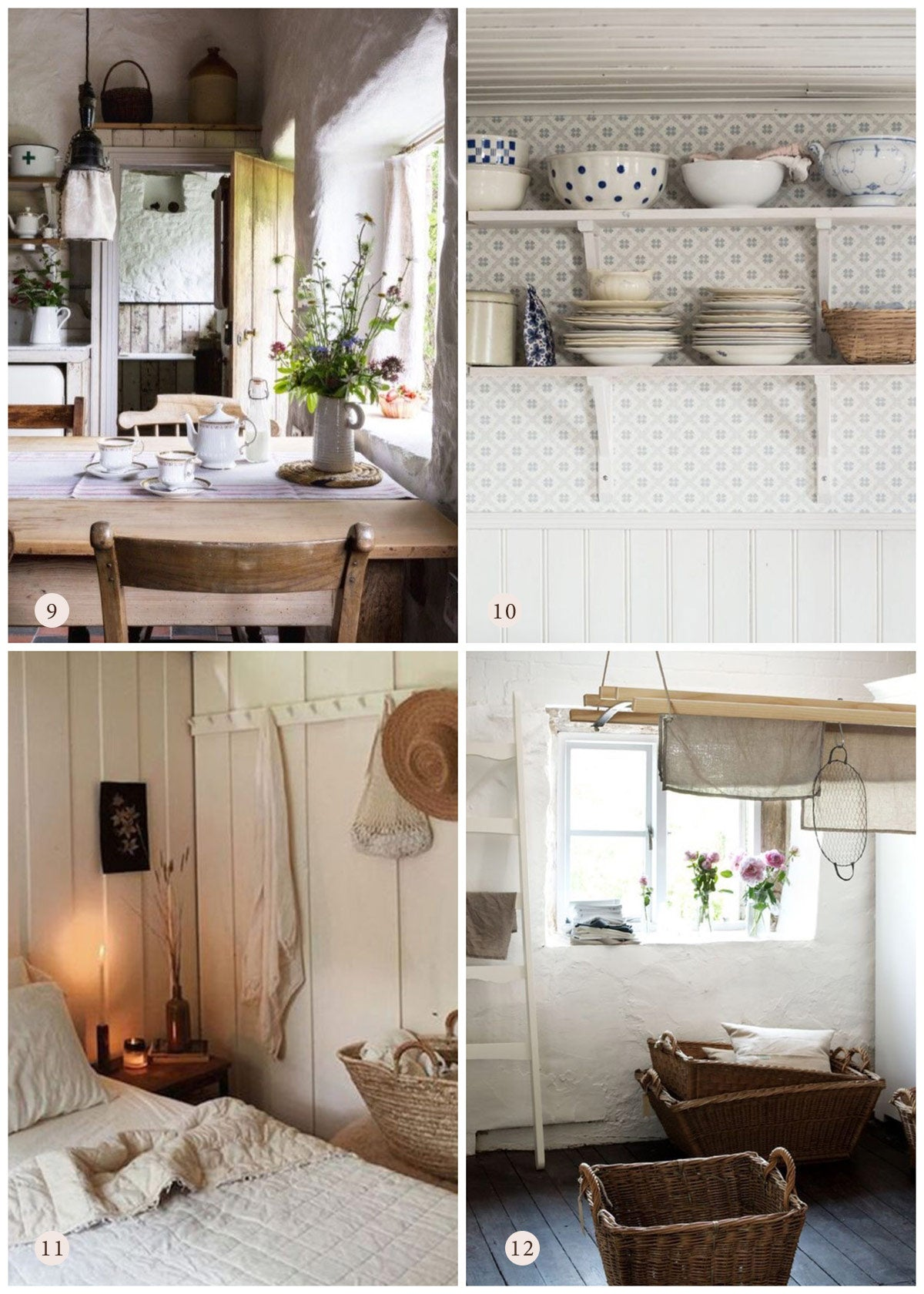Romantic Country Home Inspirations & Decor Ideas
