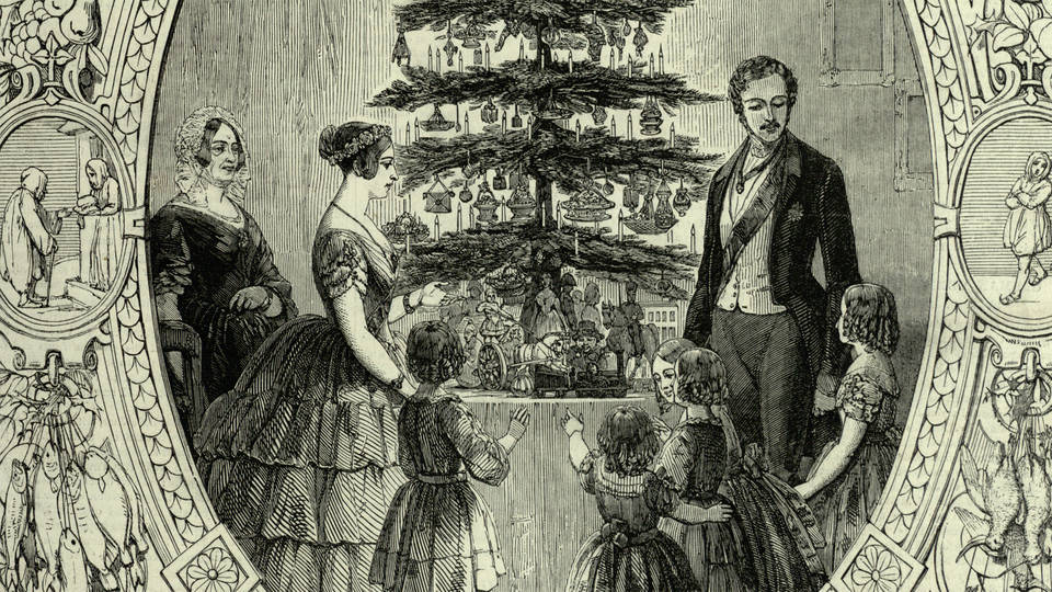 Victorian Christmas Traditions / Victoria and Albert Illustration