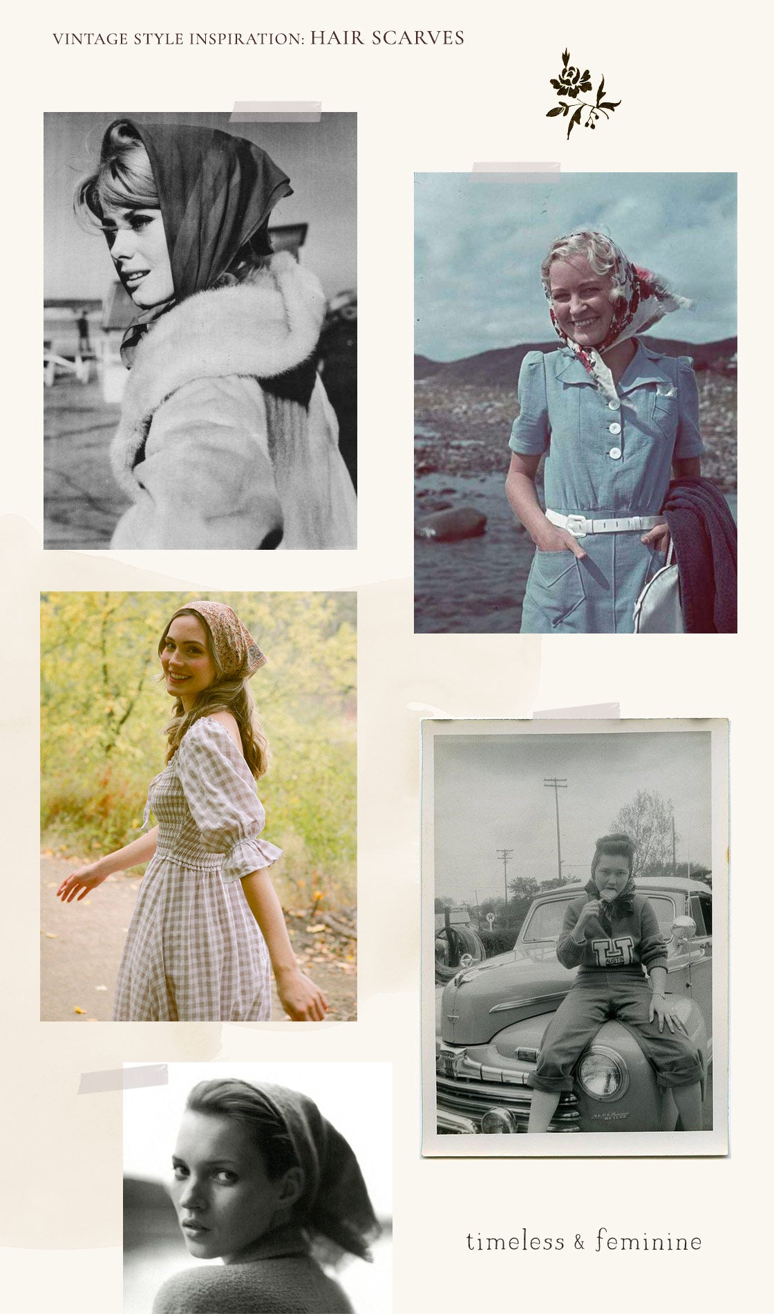 Vintage Style Inspiration: How to wear a hair scarf