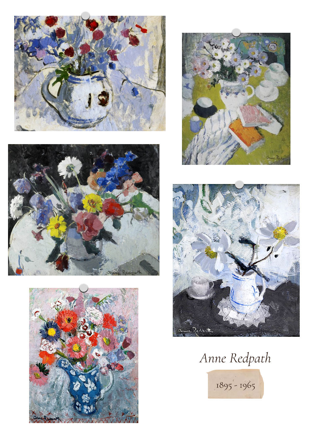 Women In Art: Flowers at the Table / Anne Redpath