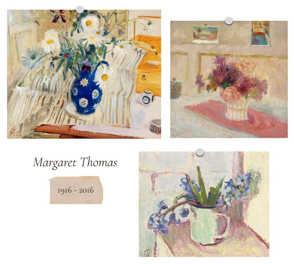 Women In Art: Flowers at the Table / Margaret Thomas