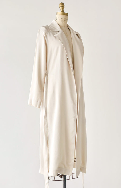 Winslet Trench Coat - Ivory