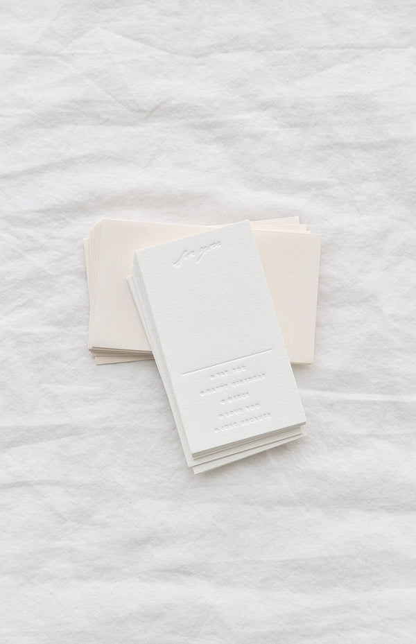 8 Mini Occasion Notecard with Blush Envelopes