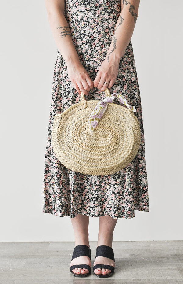 Mykonos Oval Straw Bag